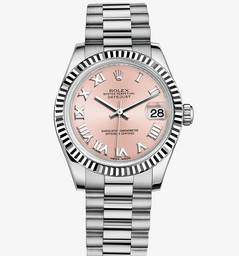 Replica Rolex Datejust Lady 31 Watch: 18 quilates de ouro branco - M178279-0068
