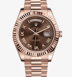 Réplica Rolex Day-Date II Watch: 18 ct everose ouro - M218235-0035