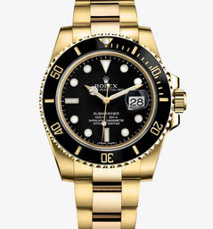 Replica Rolex Submariner Date Watch: 18 quilates de ouro amarelo - M116618LN -0001