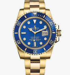 Replica Rolex Submariner Date Watch: 18 quilates de ouro amarelo - M116618LB -0002